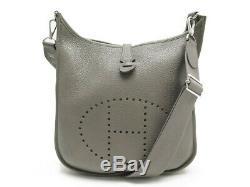 Sac A Main Hermes Evelyne III Cuir Taurillon Clemence Etain Taupe Hand Bag 2550