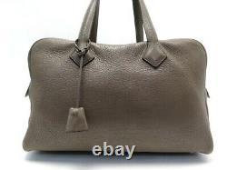 Sac A Main Hermes Victoria 35 II Fourre Tout Cuir Taurillon Clemence Bag 3750