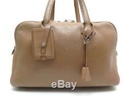Sac A Main Hermes Victoria 36 CM En Cuir Togo Etoupe Leather Hand Bag 3450