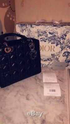 Sac À Main Lady Dior En Cuir Noir