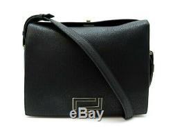 Sac A Main Lancel Pia Gm A10661 Bandouliere En Cuir Noir Leather Hand Bag 890