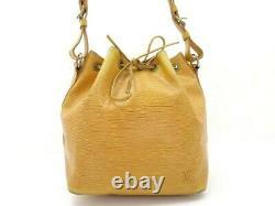 Sac A Main Louis Vuitton Noe Pm En Cuir Epi Jaune Leather Hand Bag Purse 1410