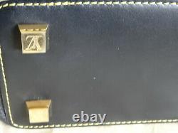 Sac A Main Louis Vuitton Noir Cuir De Chevre Surpique Jaune Modele Cloute