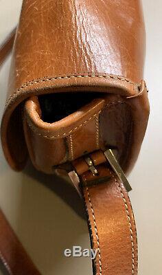 Sac À Mains Bandoulière Gucci Cuir Marron Vintage