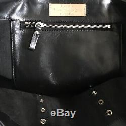 ++ Sac Cabas Bag Cuir Noir M Vanessa Bruno 295 ++