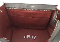 Sac Celine Trapeze Tricolore Rouge Gris Marron Large Size Rare It Bag Luxe Grand