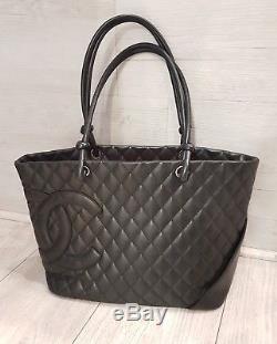Sac Chanel Cambon   Sac Chanel Cuir Matelassé Noir  Chanel Hand Bag +  Certificat 906e3d1b9c6d