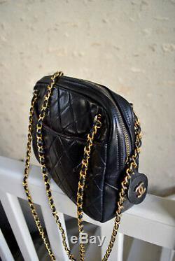 Sac Chanel Camera en cuir matelassé vintage