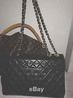 Sac Chanel Maxi Jumbo en cuir et bijouterie en Or