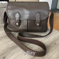 Sac Cuir LONGCHAMP Marron Modèle Taille 29x21cm Original Bag Made in France
