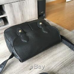 Sac Cuir LONGCHAMP Noir Modèle Taille 29x21cm + Pochette Original Made in France