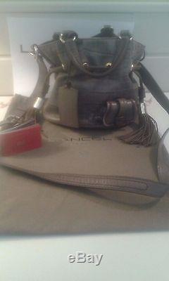Sac FIRST FLIRT LANCEL gris fumé Style croco
