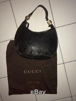 Sac Gucci cuir noir
