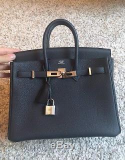 25 Sac Hermes Hardware Mini Nuit Bleu Palladium Bag Birkin Cm Togo kZiPXuOT
