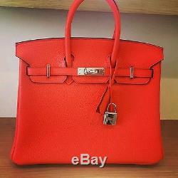 Sac Hermès Birkin orange poppy (25)