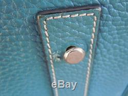 428d2089a1 Sac Hermès Birkin 40 cm cuir taurillon clémence bleu accastillage palladium