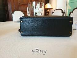 Sac Kelly Hermès, noir cuir grainé 32 cm. Porté 2 fois. Etat neuf