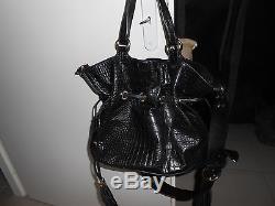 8996a4639da Sac LANCEL modèle Premier Flirt façon croco noir