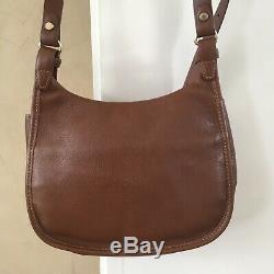 Sac LONGCHAMP Cuir Marron Modèle BALZANE Bandoulière 24x18cm Original Bag