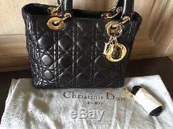 Sac Lady Dior cuir noir en excellent état