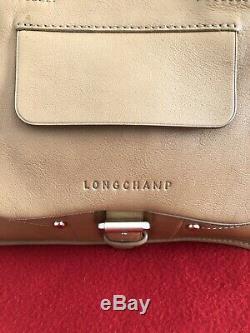 Sac Longchamp Modèle Balzane En Cuir Couleur Nude TBE