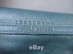 Sac Longchamps En Cuir Vert Tres Souple Le Pliage Valeur 440