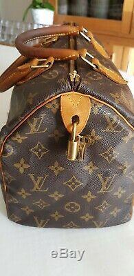 Sac Louis Vuitton Speedy 30 Monogrammé authentique gravé SP1938 à saisir