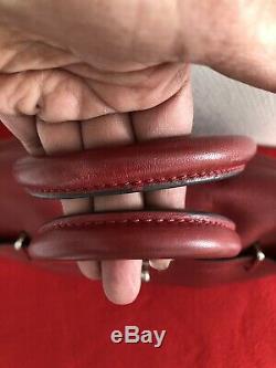 Sac Pyla Mac Douglas En Cuir De Buffle Couleur Rouge