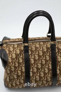 Sac à main Boston vintage Christian Dior vintage cuir et toile monogramme