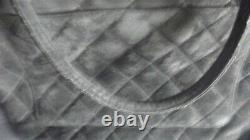 Sac à main CHANEL cuir dagneau retourné matelassé vintage avec son pochon bag