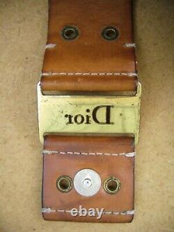 Sac à main CHRISTIAN DIOR, HOBO, Cuir et Toile monogrammée Marron Vintage