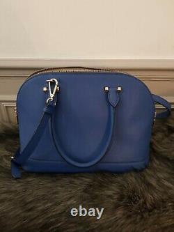 Sac à main DKNY cuir bleu électrique comme neuf