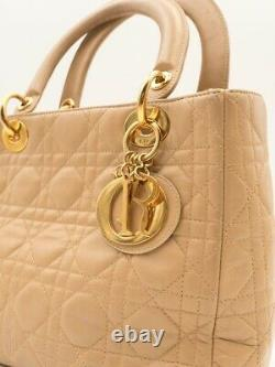 Sac à main Dior Soft en cuir beige