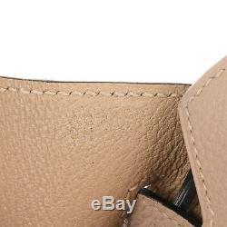 Sac à main Hermès Birkin 30 en Togo gris Tourterelle, accastillage Palladié