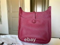 Sac à main Hermes Evelyne III Bag GM (Rouge Grenat Epsom Leather)