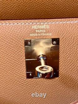Sac à main Hermes Kelly 28 epsom gold hardware modèle 2020