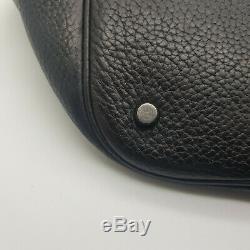 Sac à main Hermès Picotin Lock en cuir noir