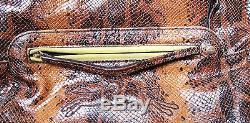 Sac à main LONGCHAMP GATSBY en cuir très souple de couleur marron & gold