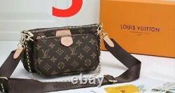Sac à main LV + porte feuille luxe pour Femme