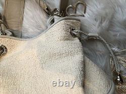 Sac à main Lancel Brigitte Bardot BB Couleur Crème Tissu Cuir
