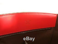 Sac à main Louis Vuitton Phénix cuir épi rouge