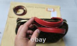 Sac à main Louis Vuitton RETIRO PM marron / rouge en toile et cuir, jamais porté
