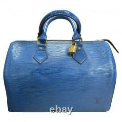 Sac à main Louis Vuitton Speedy en CUIR EPI BLEU, modèle 25