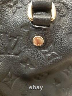 Sac à main Louis Vuitton cuir empreinte bleu marine
