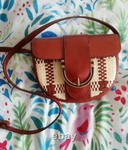 Sac à main/ bag / handbag / Tasche Sézane T en Raphia et cuir Camel