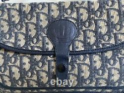 Sac à main baguette toile canevas logo Monogram CHRISTIAN DIOR vintage