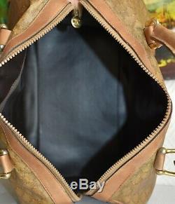 Sac à main cabas CELINE en toile pvc et cuir sac vintage porté main