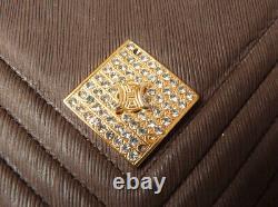Sac à main en cuir CELINE PARIS pochette bag Céline