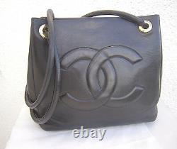 Sac à main en cuir CHANEL (made in France) TBEG authentique & vintage Bag