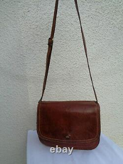Sac à main en cuir THE BRIDGE TBEG authentique réf (037751) & vintage Bag